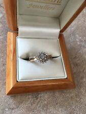 9CT Yellow Gold Diamond Engagement/Dress Ring, Hm 375 Size M, 2.7g (0.50ct Dia)