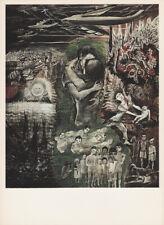 LEA GRUNDIG - LIFE'S THREAT * EAST GERMAN SMALL POLITICAL ART PRINT 1975