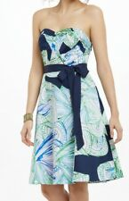 MOULINETTE SEOURS Anthropologie Donau Dress print sweetheart fit flare M 6 8 10