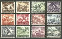 DR Nazi 3 Reich Rare WWII Stamp War Science Wehrmacht Army Attack Waffen SS MG34