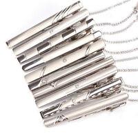 Pince à cravate de normes en acier inoxydable au chrome d'argent pour hom IBB