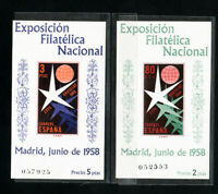 Spain Stamps # 877a-78a XF S/S OG NH Scott Value $55.00