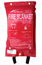 FIRE BLANKET 1.8M X 1.2M - (ADULT SIZE) KITCHEN CAMPING CARAVAN BOAT BUSINESS)