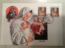 1992 Christmas Stamp FDC First Day Cover 10/22/1992 DC Postmark Mary & Jesus