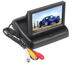 4.3 inch TFT LCD Car Monitor Car Rearview Reverse Parking Monitor with 2-channel