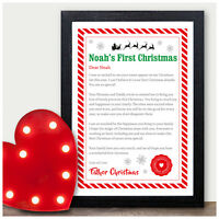 Personalised Babys First Christmas Letter from Father Christmas 1st Xmas Gifts