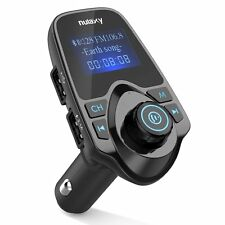 Upgraded Nulaxy Wireless In-Car Bluetooth FM Transmitter Broadcast Radio Adapter