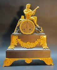 Large Napoleon III French Empire Orientalist Gilt Bronze Clock  c. 1870 antique