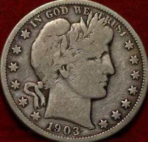 1903-O New Orleans Mint Silver Barber Half Dollar