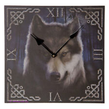 Wanduhr Bilderuhr Uhr Bild Deko Geister Wolf Kopf Wolfskopf Wald Vollmond