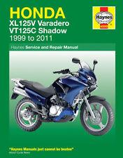 Manual de Haynes 4899 Honda XL125V Varadero & VT125C sombra de 1999 - 2011 Nuevo