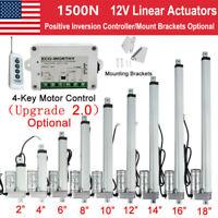 """16/"""" 48/"""" pouces électrique 2000N//449LB Actionneur Linéaire Heavy Duty 12 V Putter Motor"""
