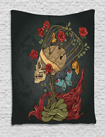 Skull Tapestry Evil Mexican Sugar Print Wall Hanging Decor