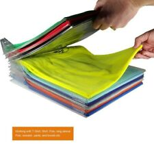 10PCS Foldable Board Folder Clothes T-Shirt Flip Stacking Shelf Organizer Travel