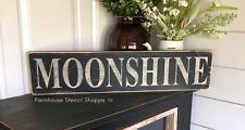"MOONSHINE STENCIL, 24""x5"", reusable stencil, plastic stencil, NOT A SIGN!"