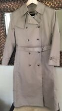 Womens 8P>LONDON FOG>Beige•LONG•Double Breasted TRENCH Coat>WOOL lined Orig.$178