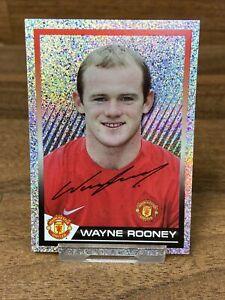 Rare 2007/08 Wayne Rooney Manchester United Panini Shiny Sticker Pack Fresh #75