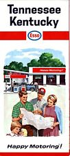1966 Humble / Esso Road Map: Tennessee Kentucky Nos