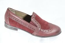 Franco Sarto Women's Loafers Oxford Tibby Burgandy Slip On WIng Tip Shoes 5M