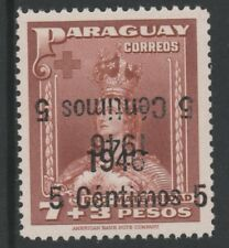 Paraguay 5132 - 1956 SURCHARGE DOUBLED, ONE INVERTED unmounted mint