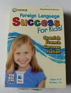 Foreign Language Success for Kids Ages 6-12 (CD, 2008) Win/Mac