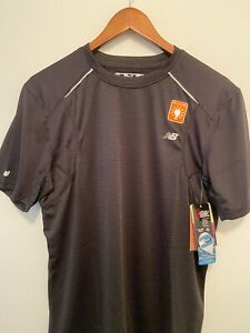 NWT! MEN'S NEW BALANCE NBX ADAPTER SHORT SLEEVE SHIRT 3 - BLACK - MRT0305 BK