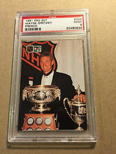 1991 Pro Set French hockey card Wayne Gretzky #324 PSA 9 MINT Art Ross Trophy