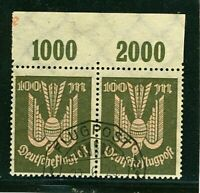 Germany Scott #C18 Used Pair w/ Tabs. (1923)