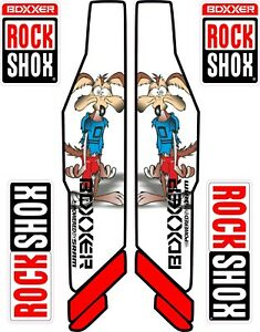 ROCK SHOX FORK Stickers Decals Mountain Bike Down Hill MTB #b002