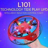 UFO Drone RC Sensor de infrarrojos Aviones de inducción Quadcopter Flying Toy