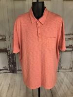 True Grit Men Short Sleeve Button Front Shirt Heavy Stitch Heathered X Large XL