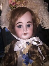 "Antique AM 1894 Dep 27"" Bisque Doll With Unusual French Body And French Writing"