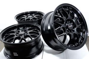"16"" Wheels Rims Black 5 Lugs Fit Honda Accord Civic Kia Soul Forte Corolla Prius"