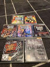 7x PS3 Guitar Hero Game Bundle Warriors Of Rock World Tour Ect