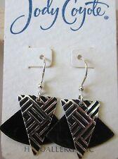 Jody Coyote Earrings JC0917 new Orchid SMC225-01 black silver dangle kite