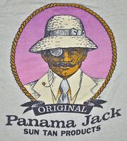 Vintage 80s PANAMA JACK SUN TAN PRODUCTS Safari Style Light Beige Womens XS XXS