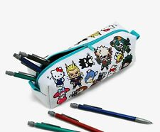 MY HERO ACADEMIA x HELLO KITTY AND FRIENDS CHIBI PENCIL CASE Pouch Makeup Bag
