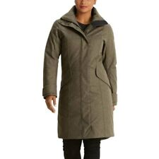 NAU WATERPROOF Wool DOWN Insulated TRENCH COAT Hood WINTER JACKET Women sz SMALL