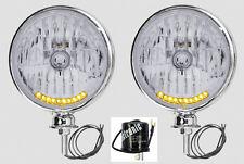 10 LED Turn Signal & Running Light Chrome Headlights Dune Buggy VW Sandrail 4x4