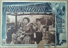 LOCANDINA CALIFORNIA EXPRESS ( Without Reservations ) John Wayne Don DeFore '40