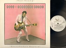 NEIL YOUNG Everybody's Rockin' LP 1983 PHOTO-Innersl NEIL & The SHOCKING PINKS