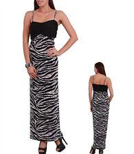Women's Sexy Gray and Black Tiger  Print Spaghetti Strap Dress Size Small (3-5)