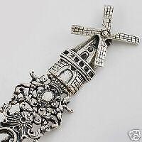 Spectacular Late 19th C. Dutch Windmill House Silver Souvenir Spoon