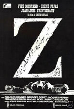 Z Yves Montand Irene Papas vintage movie poster print