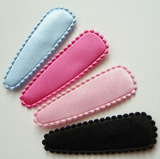 Free Shipping 52pc 50mm Basic Satin Applique Snap Hair Clip Covers