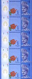 LOT, Malaysia, 5 x 1 Ringgit, ND (2012), P-New, UNC > Polymer