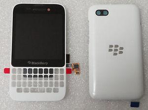 BlackBerry Q5 LCD White Screen & Digitizer Assembly+Battery Door OEM