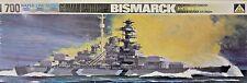 Aoshima 101: 1/700 Bismarck German Battleship