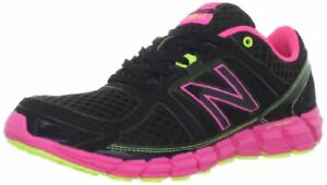 New Balance Womens W750 Athletic Running-W Fabric Low Top, Black/Pink, Size 6.5