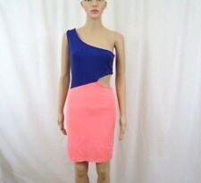 77d1aab7f1a Akira Chicago Women Dress Size Medium Bodycam Peach Purple Made In USA